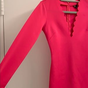 NBD from Revolve pink long sleeve mini dress